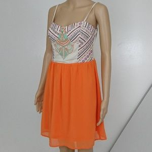 NWT Flying Tomato Embroidered Weave Dress Size M